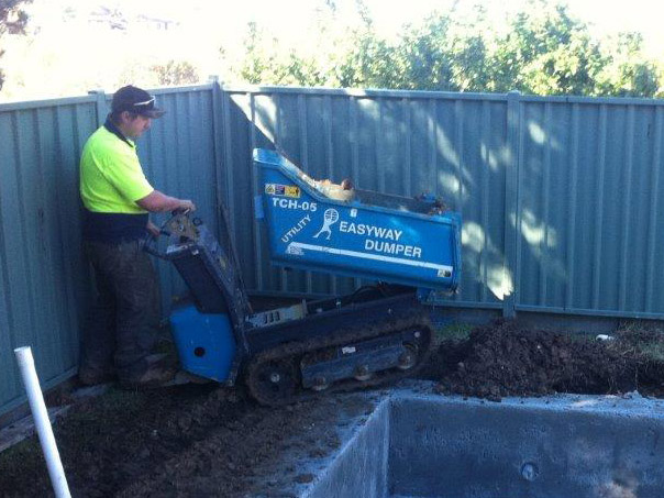 Rick Murray Excavations - Conveyors Mini Dumpers